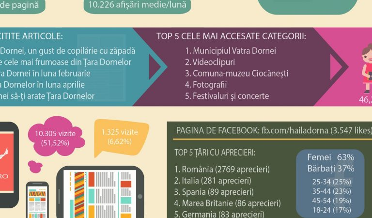 [INFOGRAFIC] Cifre despre hailadorna.ro după trei luni de activitate