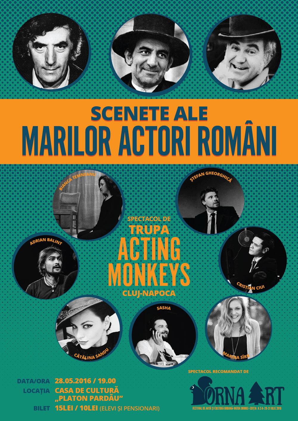Scenete ale marilor actori români