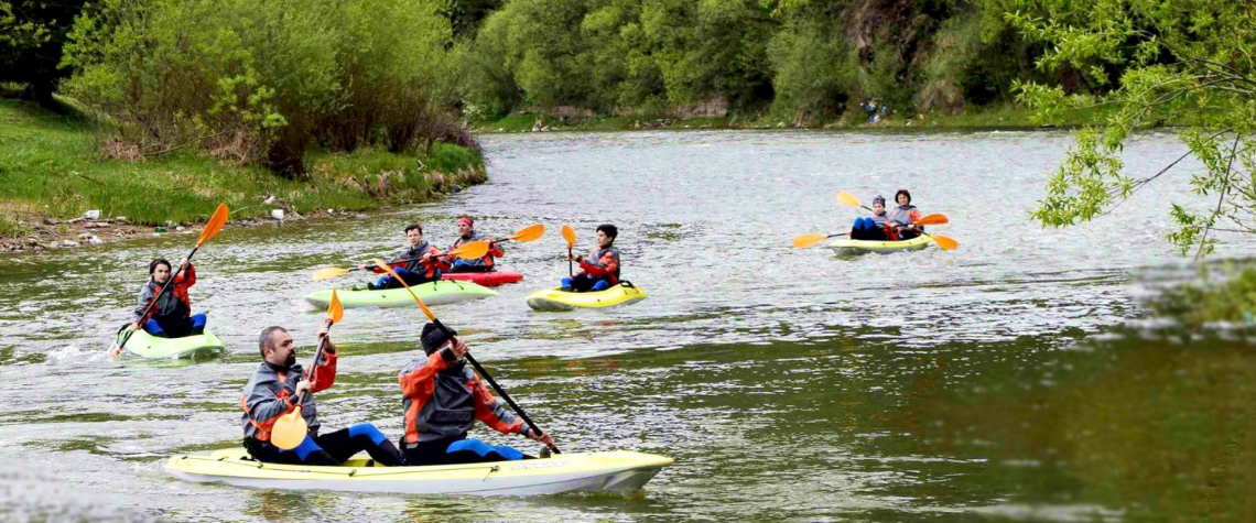 River-rafting în Bucovina