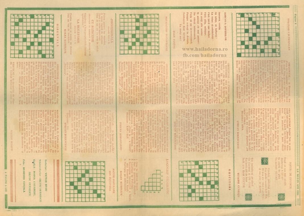Dorna History #2. Rebusuri, umor și jocuri de cuvinte cu caracter bucovinean, publicate într-un ziar din 1986
